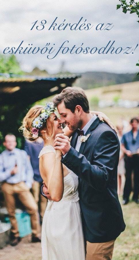 13 kérdés, amit fel kell tenned az esküvői fotósodnak!
