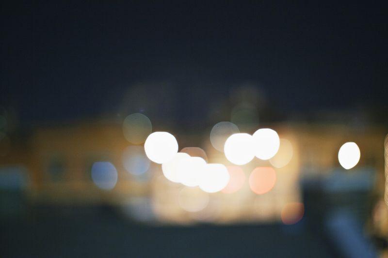 A fényfoltok megjelenése...